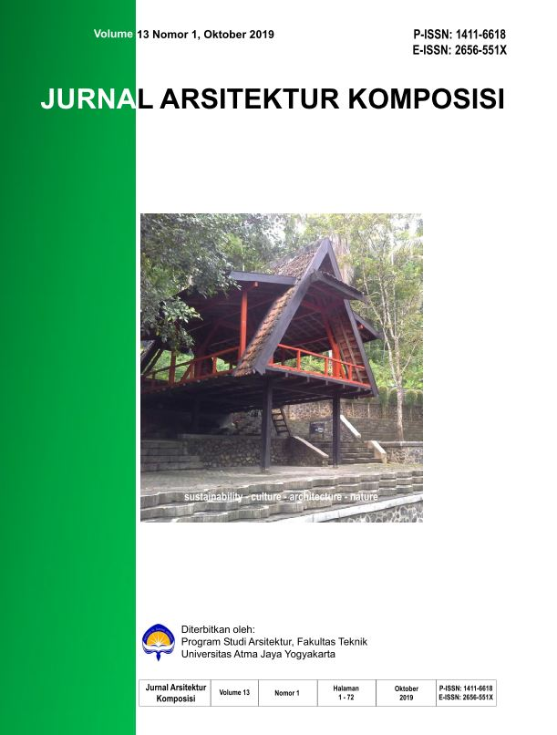 Jurnal Arsitektur KOMPOSISI Vol. 13 No 1, Oktober 2019