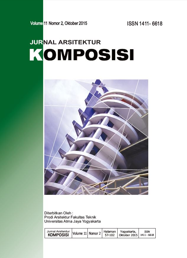 Cover Jurnal Arsitektur KOMPOSISI Vol 11 No 2 Oktober 2015