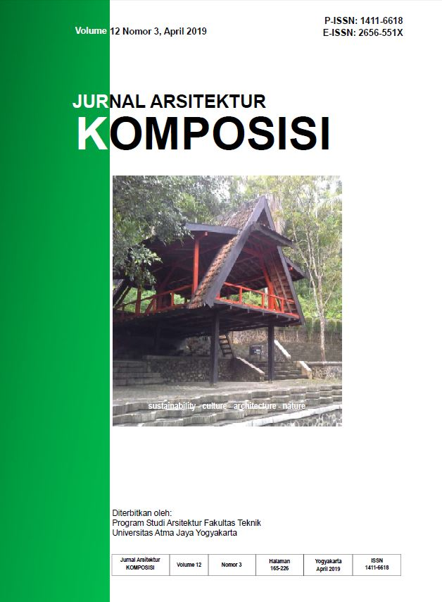 Cover Jurnal Arsitektur KOMPOSISI Vol. 12 No 3, April 2019