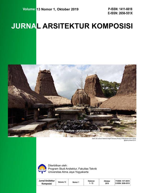 Jurnal Arsitektur Komposisi Vol. 13 No 1, Oktober 2019