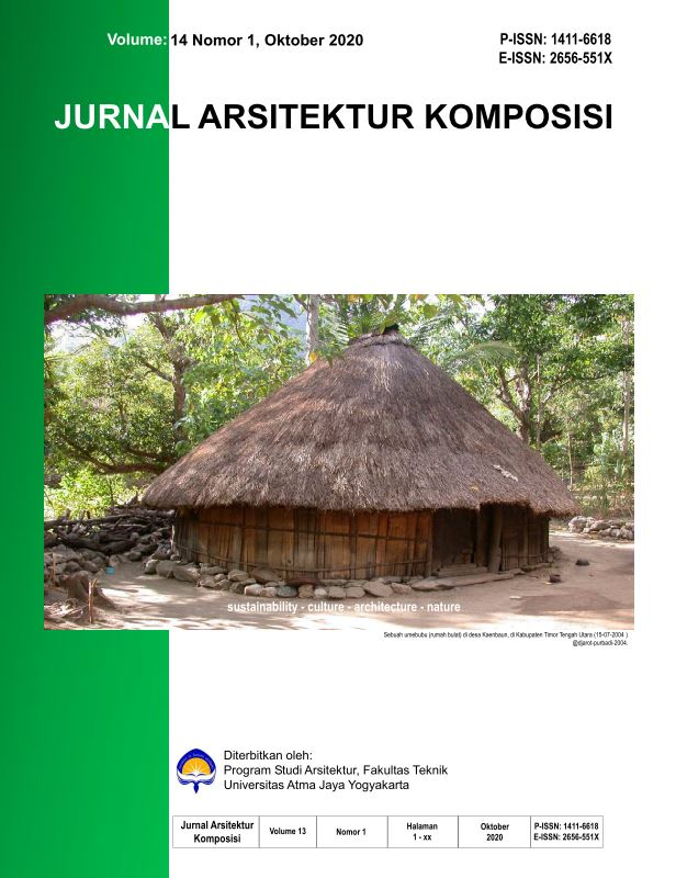 Jurnal Arsitektur Komposisi Vol. 14 No. 1, Oktober 2020