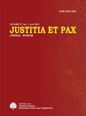 Justitia et Pax Volume 37 Nomor 1 Tahun 2021